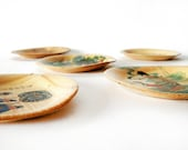 30% OFF - Asian Bamboo Vintage Small Tray Set of five - bamboo plate set - beige asian natural set