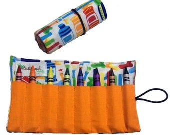 Crayon Roll Art & Painting Fun