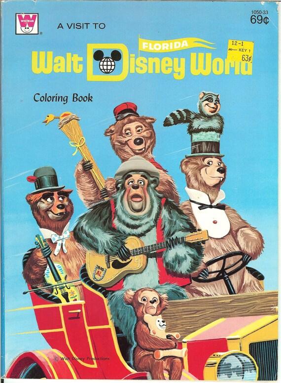 Vintage 1971 Walt Disney World Coloring Book