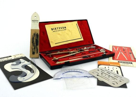 Dietzgen Drafting Set - Stellar 1288-PJL - Made in Germany