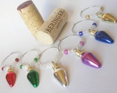 Christmas Wine Charms, Christmas Light Wine Chrams, Christmas Light Charms, Wine Charms, Unique Wine Charms, Wine Accessories