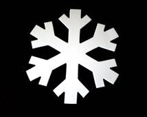 12 Large Die Cut Snowflakes