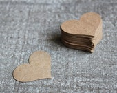 Front Page Featured-300 Shabby Chic Wedding Handmade Upcycled Brown Paper Heart Cutouts
