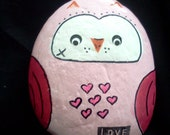 Painted Decorative Rock- Hoo Loves You