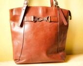 Vintage backpack/bag. Leather bag.