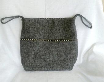 Grey Tweed Wheelchair Bag
