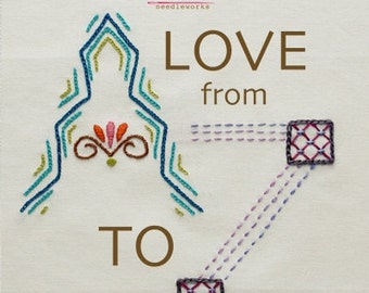 ANNA MARIA HORNER Embroidery Transfers and Instructions--Love From A to Z
