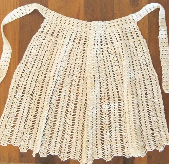 Vintage Crochet Half Apron