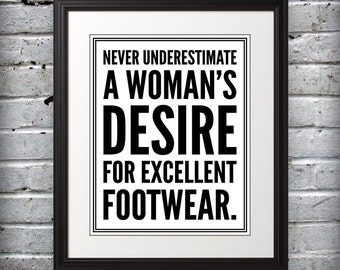 Marilyn Monroe inspired - Womans desire for excellent footwear. - 8x10 B&W Print