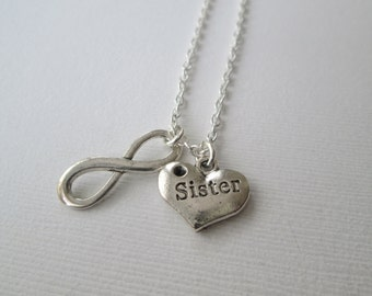 Sister, Infinity Necklace