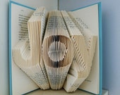 Joy - Home Decor - Holiday - Folded Book Art -  Decorative Arts - Inspirational - Book Sculpture - Unique Gift -