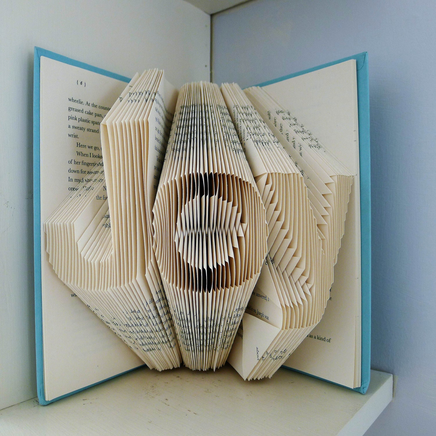 Joy home decor holiday folded book art decorative for Household decorative items