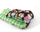 Pain In The Neck Aromatherapy Heating Pad, Extra Soft Ice Cream Sundae Flannel Microwavable Flax Seed Heating Pad