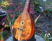 Mandoline Music box with Stand