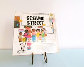 SALE - 50% Off Sesame Street Kindergarten Nursery Hits on Vintage Record