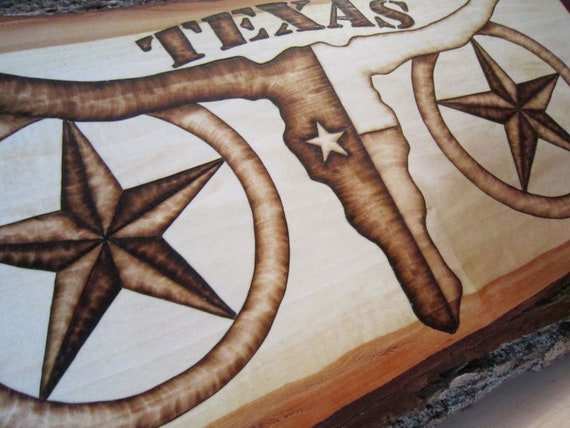Rustic Decor: Texas Flag Art Longhorn And Stars