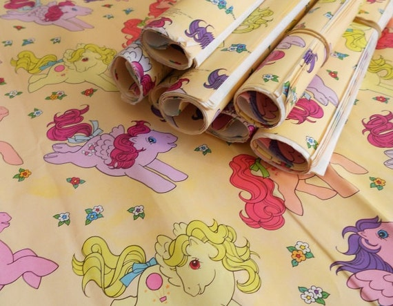 Vintage My Little Pony Wrapping Paper