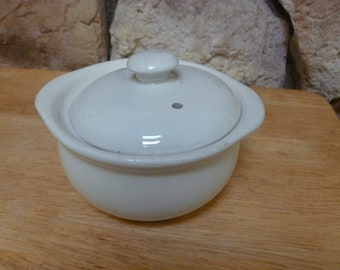 Vintage Hall White Bean Pot with Lid Number 476