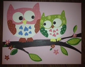 Kids Sleepy barn owl, Woodland Hayley  pottery Penelope Brooke artwork to match quilts