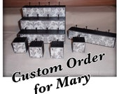 CUSTOM ORDER.  Ring Stand w/ Dry Erase.  One 3 Tier, One Single w/ 4, and One Single w/ 1