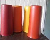 Set of four vintage Tupperware cups in fall colors- Treasury item - FunFindsVintage