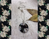 SALE - Handmade pendant on a chain with flowers