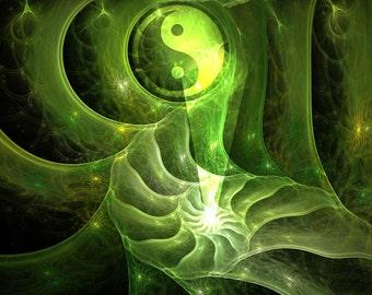 Oasis - fractal artwork digital download original home / interior decoration