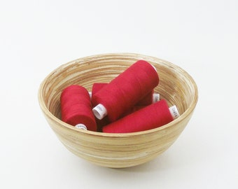 Red polyester sewing thread. 1 reel. Coats Moon colour M0046