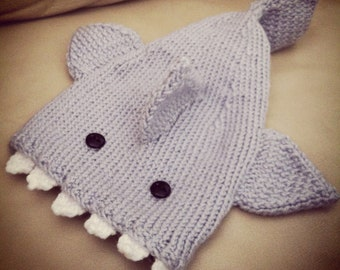 Knitted Baby Beanie Hat Shark