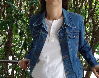 Vintage 1970s MAVERICK BLUE BELL Denim Jean Jacket M L size