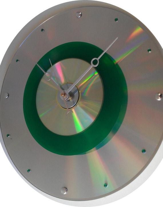 Very RARE - Green 45 vinyl album w/ Cd & a Laser disc wall clock - Must see