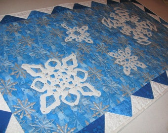 Snowflake Quilted Table Runner