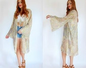Moonlight Drive Sheer PSYCHEDELIC SWIRL Bell Sleeve Duster OS