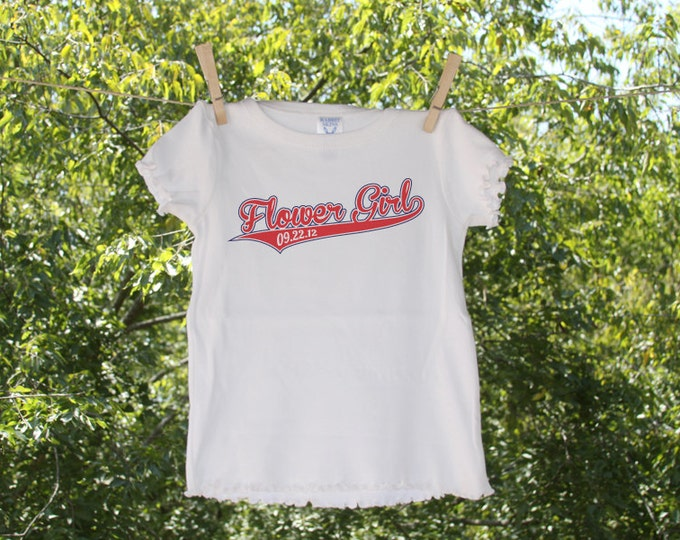 Sporty Flower Girl personalized with date