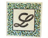 Monogram Mosaic, Name Art, Wall Hanging, Initial Art