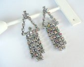 NEW DESIGN Vintage 1950s One Of A Kind Rhinestone Confetti Earrings