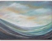 Original Abstract Seascape Oil Painting, Modern Abstract Art, Abstract Wave Ocean Painting, 6 x 8, Tumult