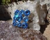 SOLD - No Longer Available - Beautiful Vintage Weiss Blue Margarita Ravoli Brooch Pin