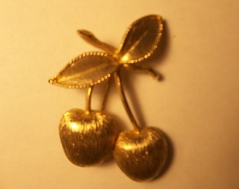 Sarah Cov Cherries Brooch