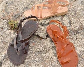"""Ancient Greek leather sandals """"FLORA"""""""