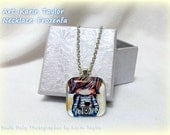 Smile Baby Photographer - Square Glass Tile Necklace