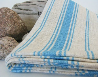 Linen Bath Sheet / Sauna Towel / Sarong / Beach Towel or  X Large Bath Towel / Striped