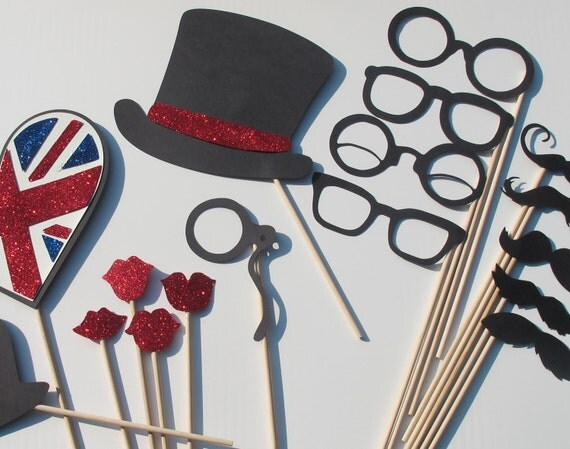 British Wedding Photo Booth Props - Photobooth Props