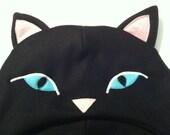 Custom item for xodolly: Black Cat Fleece Hat with scarf