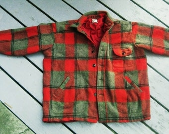 Woolrich Maine Guide Vintage Wool Plaid Coat Jacket