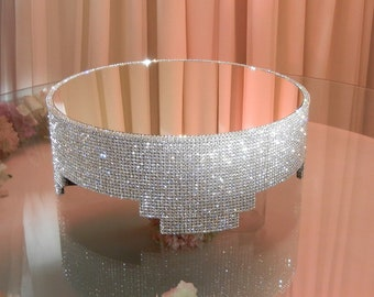 """16"""" Round Crystal Covered Cake Stand"""