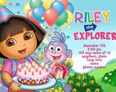 Dora the Explorer Invitation Digital File 4X6 or 5X7