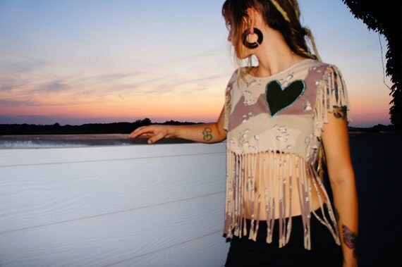 The Soul Sister Soldier of Love Camouflage Fringe Shirt