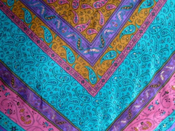 vintage 1980s Oscar de la Renta for Accessory Street silk scarf