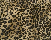 Soft Lightweight Flannel Fabric in Leopard Print